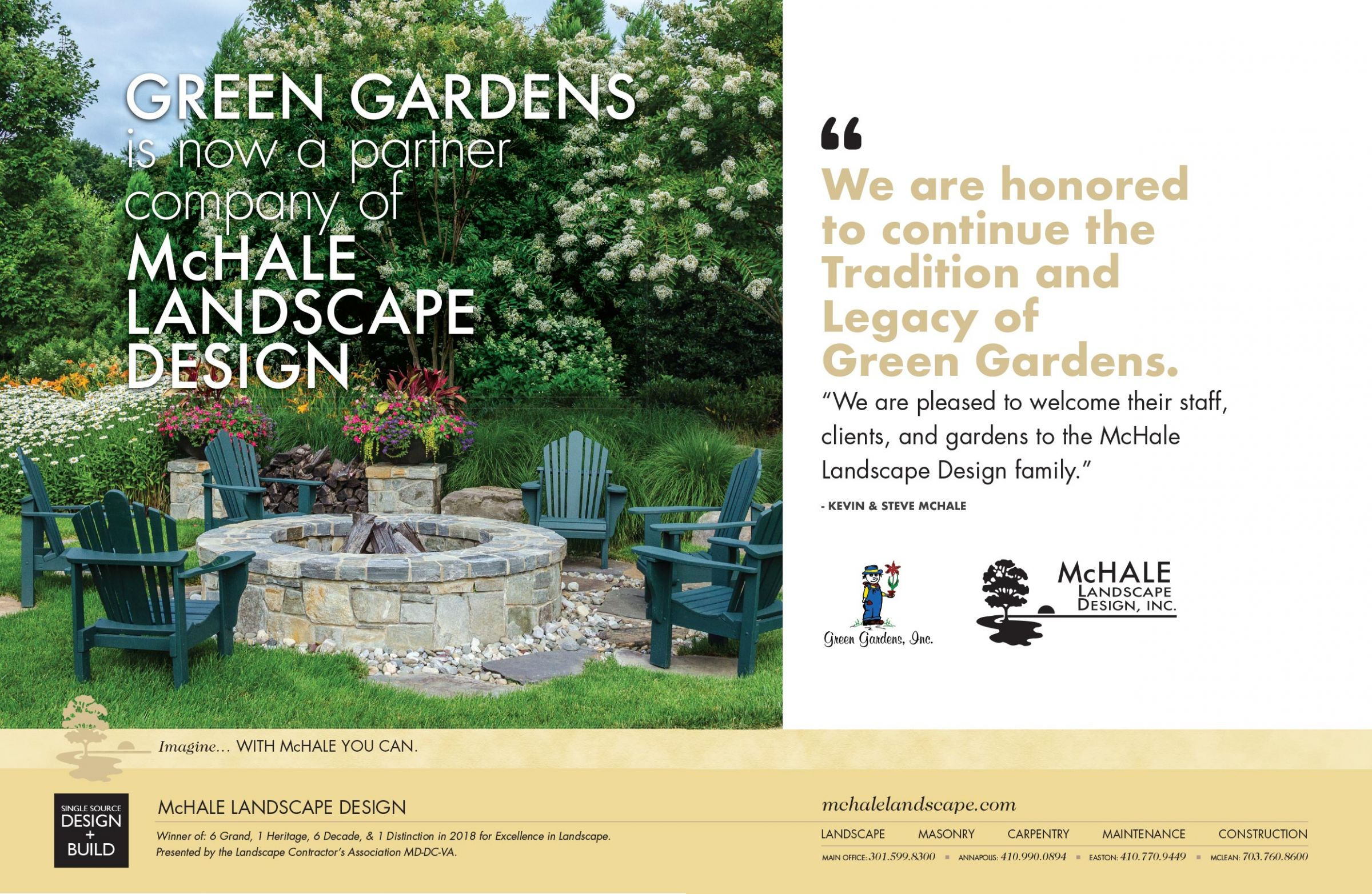 Announcing that Green Gardens is now a part of McHale Landscape Design